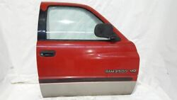 Pr4 Flame Red Right Front Door Oem 98 99 00 01 02 Ram 2500 4x2 Extended Cab