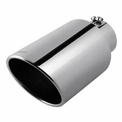 Upower 5 To 8 Diesel Exhaust Tip Universal Trucks Car Chrome Outlet Exhaust