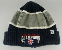 Chicago Cubs 2016 World Series Champions '47 Winter Beanie Hat Cap One Size