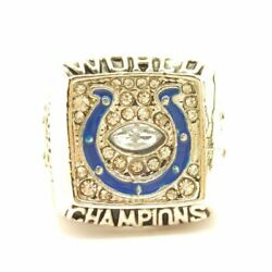2006 Indianapolis Colts Davis Super Bowl Sp Brass Championship Ring And Wood Box