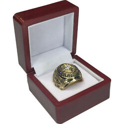 1958 Baltimore Colts Nfl Super Bowl 18k Gp Brass Championship Ring And Wood Box