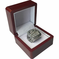 2013 Seattle Seahawks Wilson Super Bowl Sp Brass Championship Ring And Wood Box