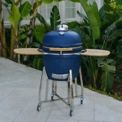 Grill Cart Smoker Charcoal Cook Surface Adjustable Air Vents Electrical Ceramic