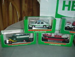 Hess 7 Mini Miniature Truck Lot 1999 2000 2001+ Old Stock New In Boxes