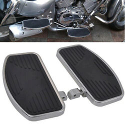 2 Motorcycle Pedal Front And Rear Foot Boards Floorboards For Harley Honda Yamaha