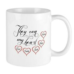 Children They Own My Heart Ceramic Personalized Coffee Mug Mother#x27;s Day Gift