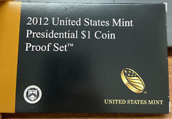 2012 Us Mint Presidential 1 Coin Proof Set - With Coa And Box