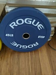 Rogue Echo Colored 45 Bumper Plates Pair Brand New In Hand