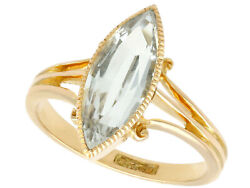 Antique Victorian 2.33 Ct Aquamarine And 15 Ct Yellow Gold Dress Ring