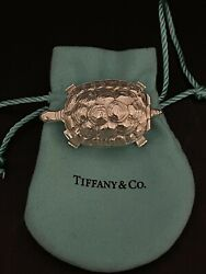 Vintage And Co. Sterling Silver Rare Turtle 28g Trinket/ Pill Box 2 Long
