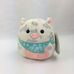 Squishmallow 5andrdquo Rosie The Spotted Pig W/ Bandana Easter 2021 Kellytoy Plush New