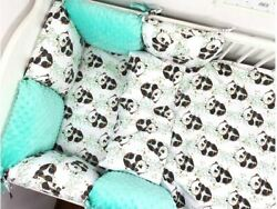 Pillow Bumper Toddler Bed Crib Bumpers 11pcs Sets Of Bedding For Cot Bed Panda
