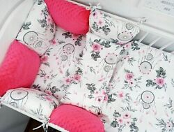 Pillow Bumper Toddler Bed Crib Bumpers 11pcs Sets Of Bedding For Cot Bed Red Pin