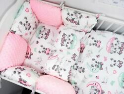 11pcs Toddler Bed Crib Bumpers 90x120 Pillow Bumper Sets Of Bedding For Cot Bed