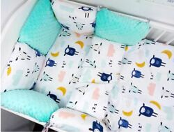 Toddler Bed Crib Bumpers 11pcs Pillow Bumper Sets Of Bedding For Cot Bed 90x120