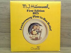 Vintage Mj Hummel First Edition 1975 Anniversary Plate Stormy Weather 10 t3