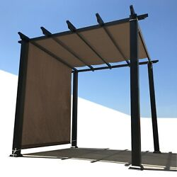 Alion Hdpe Pergola Sun Shade Cover Panel W/ Rod Pockets In Brown Custom Sizes
