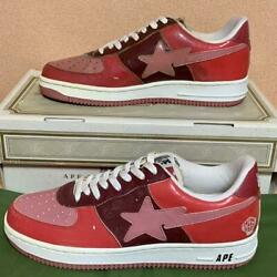 A Bathing Ape Bapesta N.e.r.d Red Fs-001 Limited 100 Pair Size Us 11 With Box