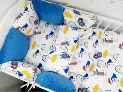 11pcs Pillow Bumper Toddler Bed Crib Bumpers Set Of Bedding For Cot Bed Superbee