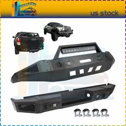 Front / Rear Bumper W/ Led Lights D-rings For 2007-2013 Toyota Tundra Textured