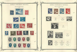 Germany Ddr Stamp Collection On 4 Scott Specialty Pages, 1949-1953, Jfz
