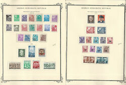 Germany Ddr Stamp Collection On 6 Scott Specialty Pages, 1953-1955, Jfz