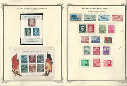 Germany Ddr Stamp Collection On 14 Scott Specialty Pages, 1955-1959, Jfz