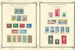 Germany Ddr Stamp Collection On 22 Scott Specialty Pages, 1959-1964, Jfz