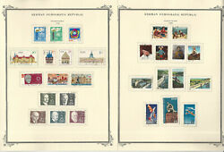 Germany Ddr Stamp Collection On 24 Scott Specialty Pages, 1968-1971, Jfz