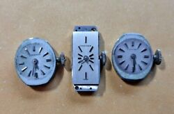 Lot Of 3 Rare Vintage Womens Longines Watch 410 510 Movements Parts/repair