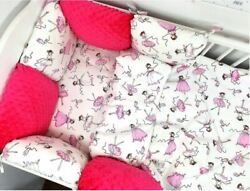 Pillow Bumper 11ps Toddler Bed Crib Bumpers Set Of Bedding For Cot Bed Ballerina