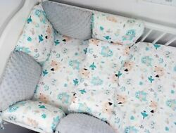 Pillow Bumper 11pcs Toddler Bed Crib Bumpers Set Of Bedding For Cot Bed Friends
