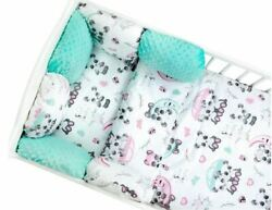 Pillow Bumper 11pcs Toddler Bed Crib Bumpers Set Of Bedding For Cot Bed New Mint