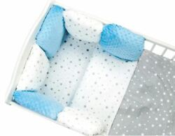 Pillow Bumper 11pcs Toddler Bed Crib Bumpers Set Of Bedding For Cot Bed White Bl