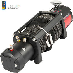 Electric Winch 12000ibs 12v 85ft Synthetic Rope 4wd Atv Utv Winch Towing Truck