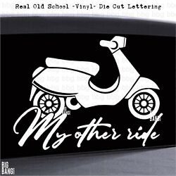 Funny Scooter Life Moped Vinyl Decal Sticker Lettering Car Vehicle Bumper Body