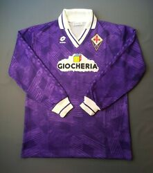 Fiorentina Italy Jersey 1991 1992 Home Match Issue Xl Shirt Soccer Lotto Ig93