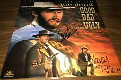 Clint Eastwood And Eli Wallach The Good The Bad And The Ugly Signed Album Disc Coa