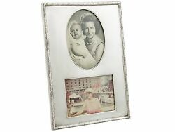 Antique George V Sterling Silver Double Photo Frame