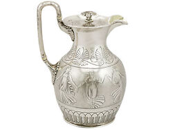 Victorian Sterling Silver Coffee Jug By Joseph Angell I And Joseph Angell Ii