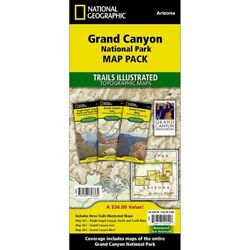 Grand Canyon National Park - Arizona - National Geographic Map Pack 3 Maps