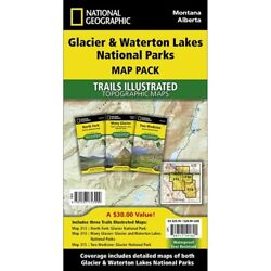 Glacier National Park Waterton - Montana - National Geographic Map Pack 3 Maps