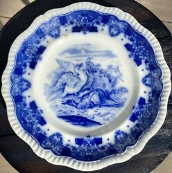 Vintage Copeland Late Spode Blue And White Tower Game Bird Dinner Plate England