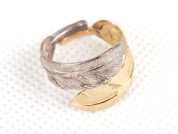 Goro's No.9 Gold And Silver Double Feather Ring