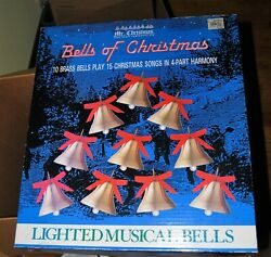 Mr Christmas Bells Of Christmas Musical Lighted Brass 15 Songs Tested And Working