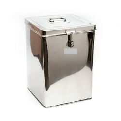 Stainless Steel Grocery Container 10 Liters Rice Keeper Silver Expedited Deliver