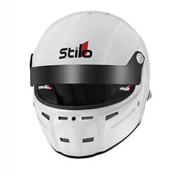 Stilo St5 Gtn Composite Fia And Snell Approved Race Helmet White With Fhr Posts