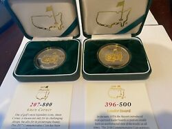 2017 And 2018 Masters Golf Tournament Silver Commemorative Coin - Limited Edition
