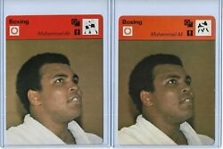 2 1977 Sportscaster Muhammad Ali / Cassius Clay Cards Italy And Japan Versions