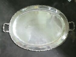 Large Oval Sterling Silver Mexican Tray 50 Troy Ounces